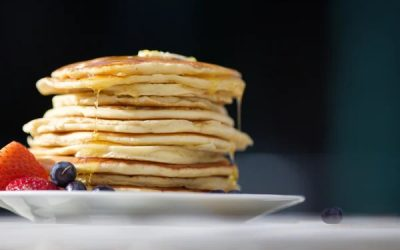 Lemon-Poppy Seed Buttermilk Pancakes with Crickets